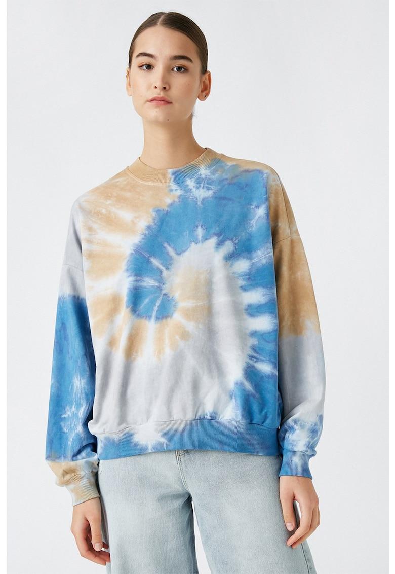 Bluza sport lejera cu aspect tie-dye imagine
