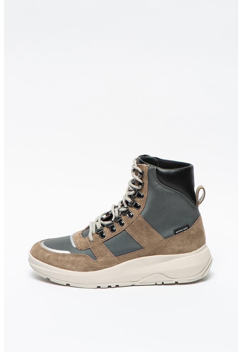 Pantofi sport wedge inalti cu insertii de piele intoarsa Asher