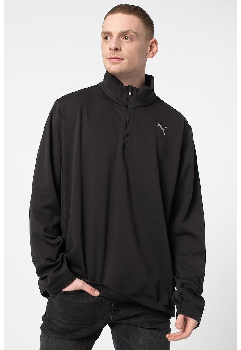 Bluza cu fenta scurta cu fermoar pentru alergare imagine