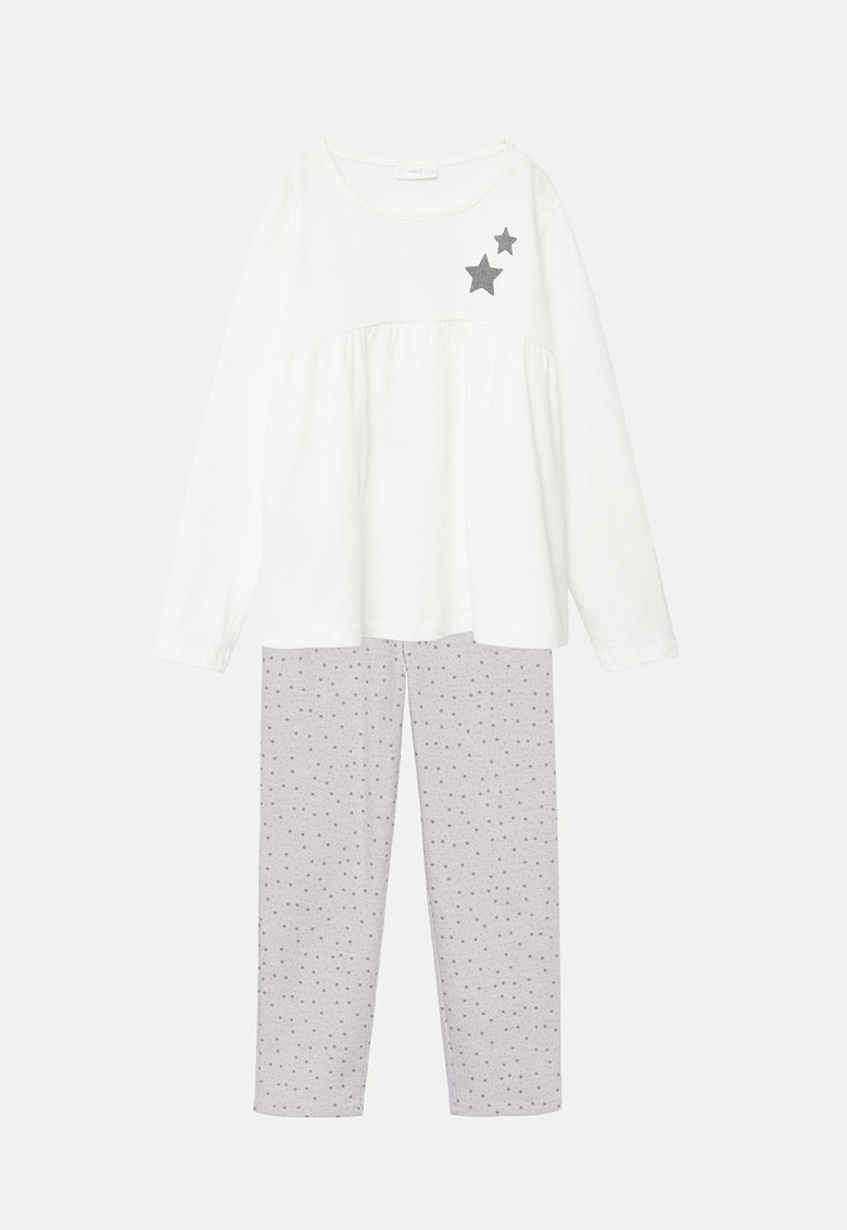 Pijama cu imprimeu cu stele Dreamy