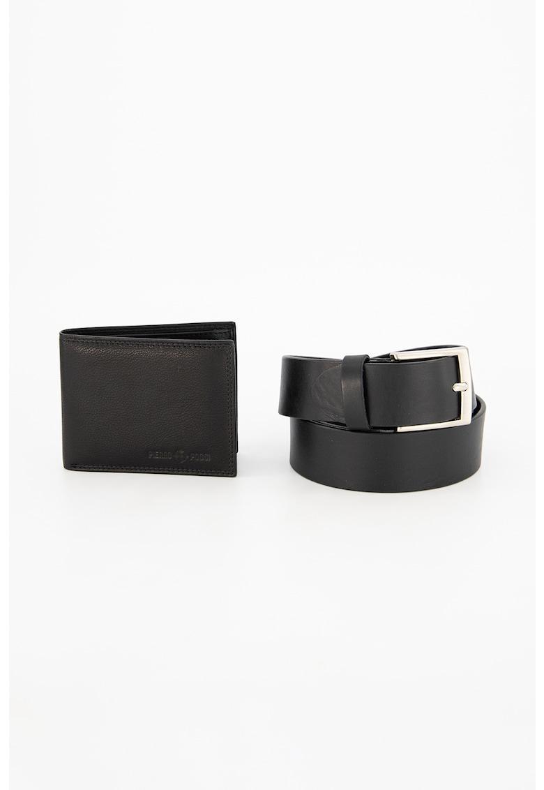 Set de curea si portofel din piele Pierro Poggi fashiondays.ro