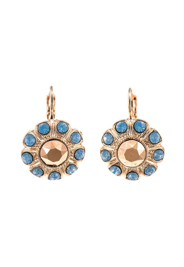 Cercei placati cu aur de 24k si decorati cu cristale Swarovski imagine fashiondays.ro