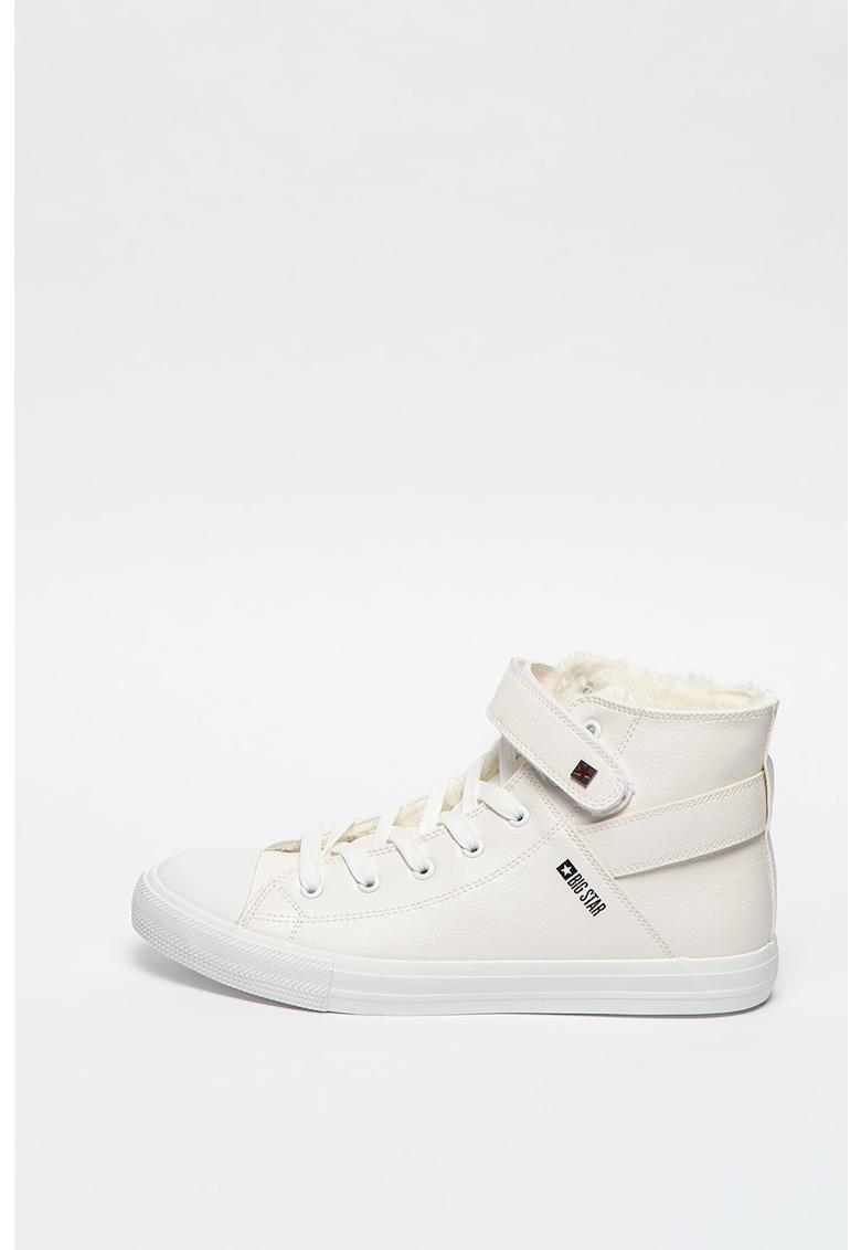 Pantofi sport inalti de piele ecologica cu captuseala de blana sintetica