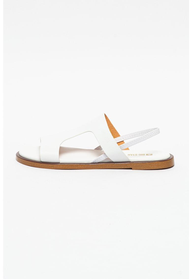 Sandal slingback de piele imagine fashiondays.ro Big Star