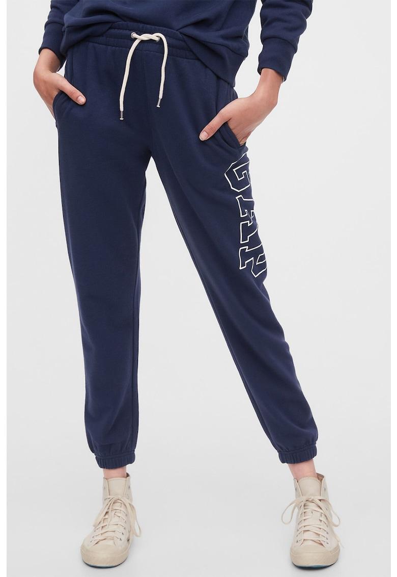 Pantaloni sport cu snur de ajustare in talie