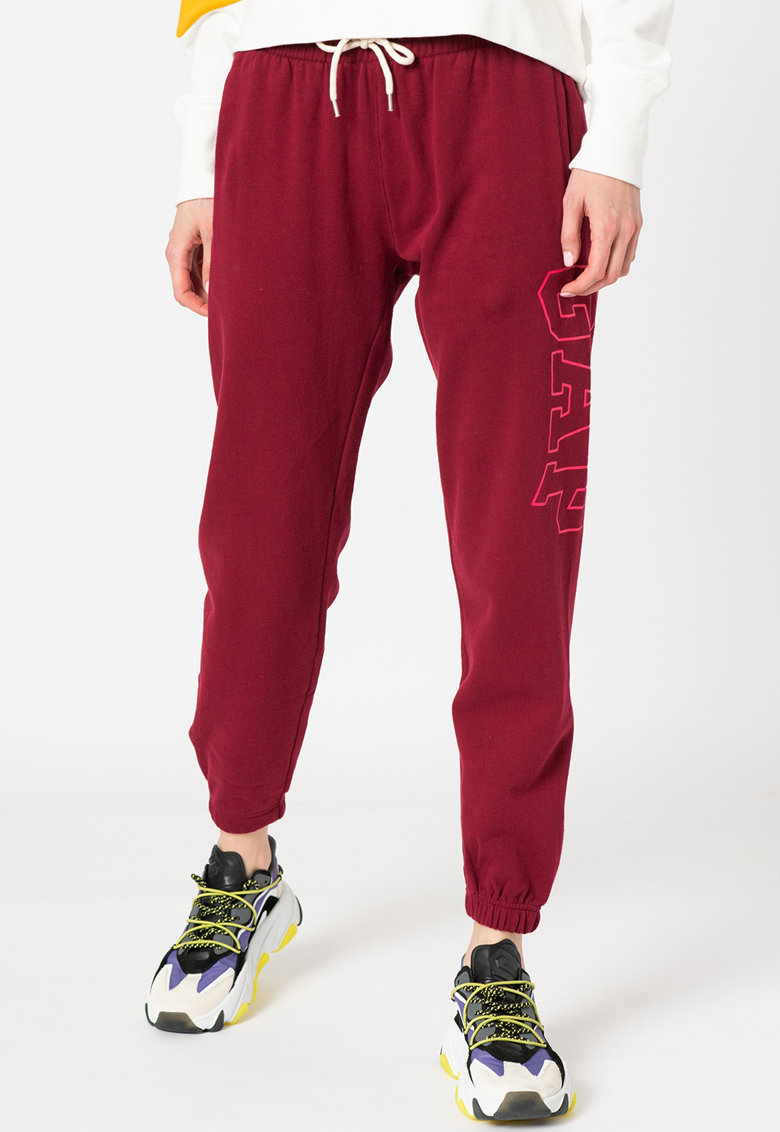 Pantaloni sport cu imprimeu logo