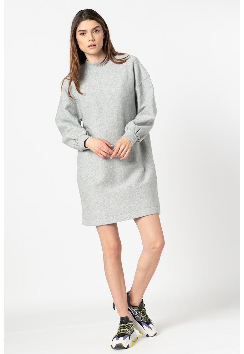 Rochie tip bluza sport cu insertii de lurex