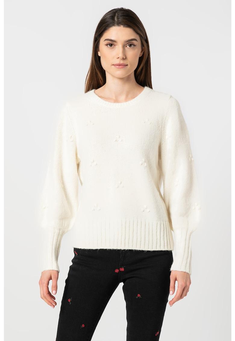 Pulover din amestec de lana si lana alpaca cu maneci bufante de la GAP