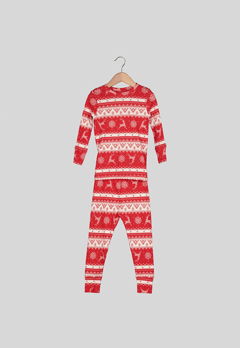 Pijama de bumbac cu model nordic