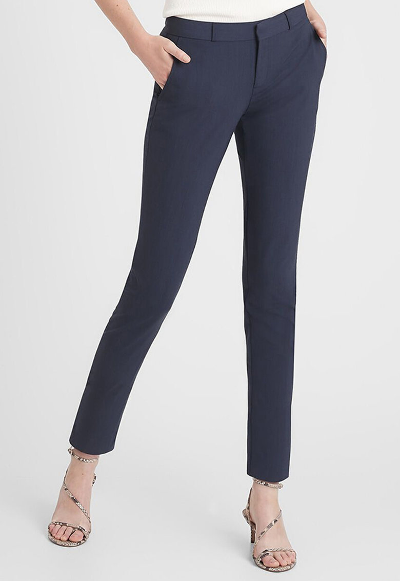 Pantaloni slim fit din amestec de lana imagine