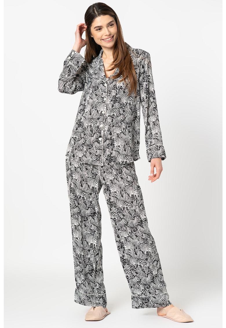 Banana Republic Pijama cu imprimeu - revere decupate si buzunar pe piept