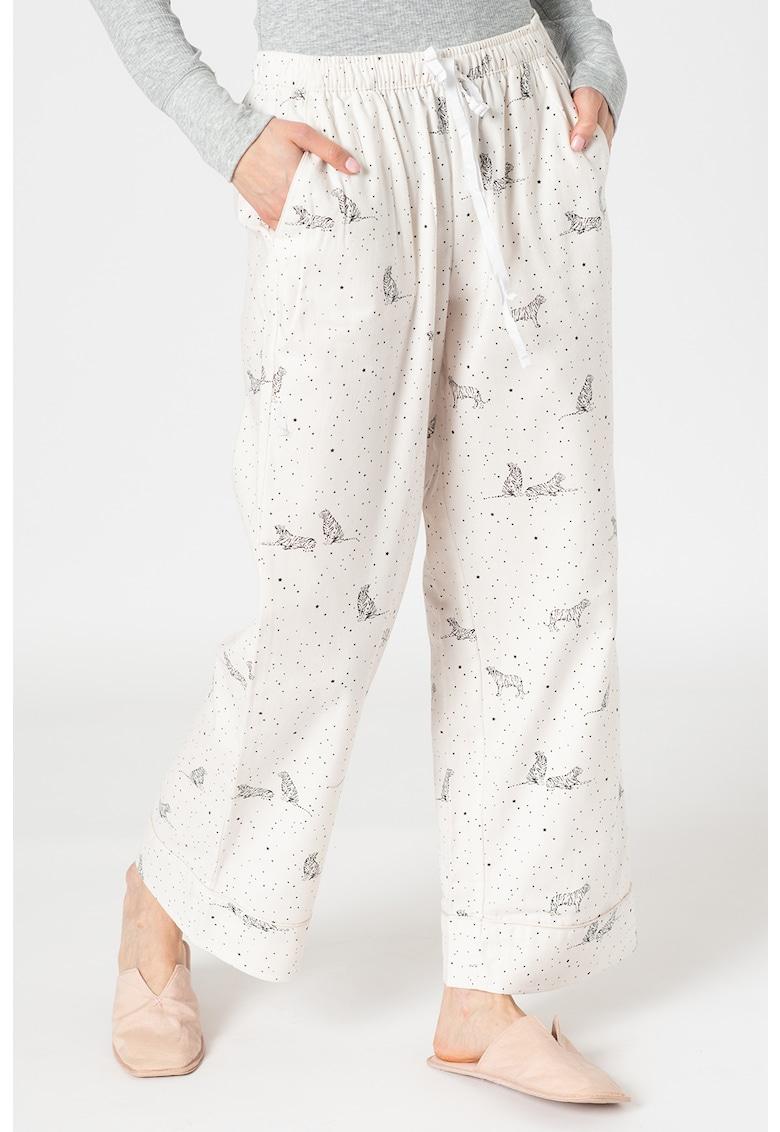 Pantaloni de pijama cu imprimeu