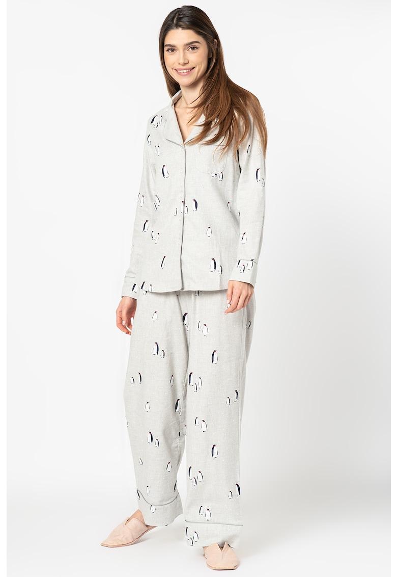 Banana Republic Pijama cu imprimeu si revere decupate