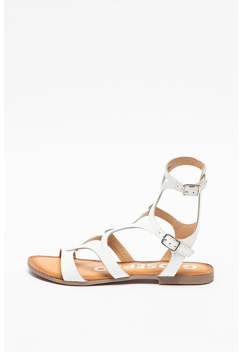 Sandale de piele cu barete multiple Corning