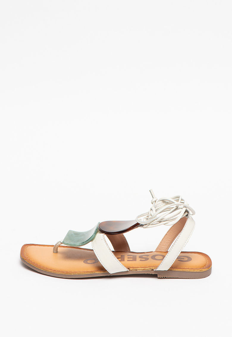 Sandale de piele cu barete infasurabile Kovrov imagine
