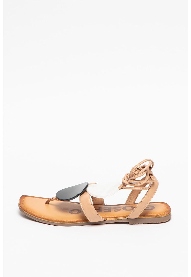 Sandale de piele cu barete infasurabile Kovrov
