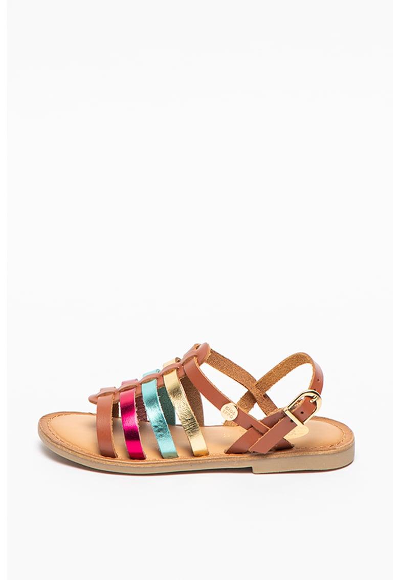Sandale de piele cu garnituri metalizate Fullerton