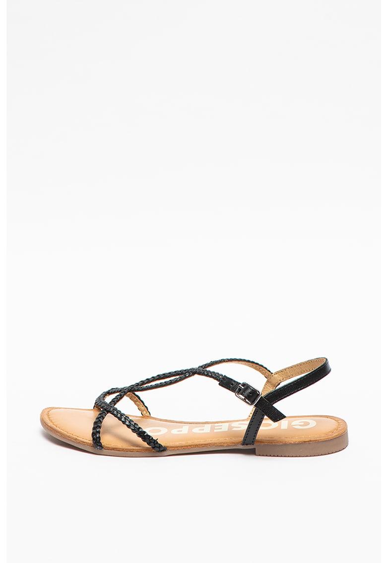 Sandale de piele cu barete incrucisate Ossian imagine