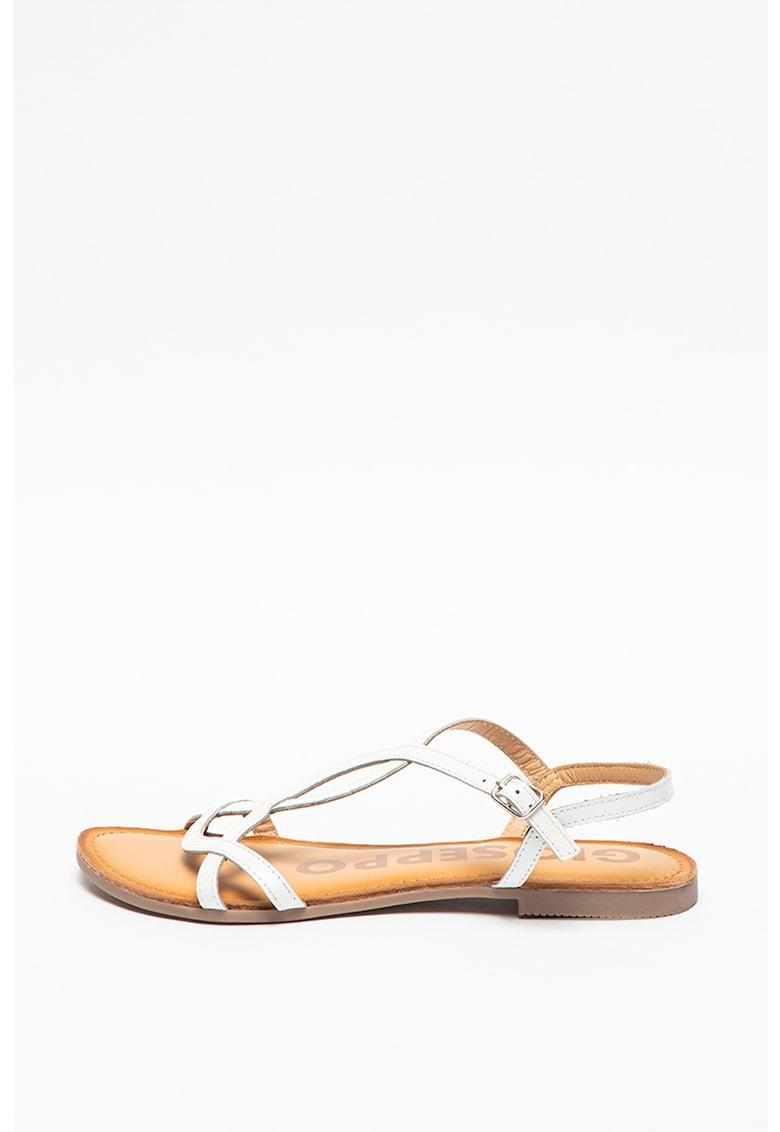Sandale de piele cu barete incrucisate Navassa imagine