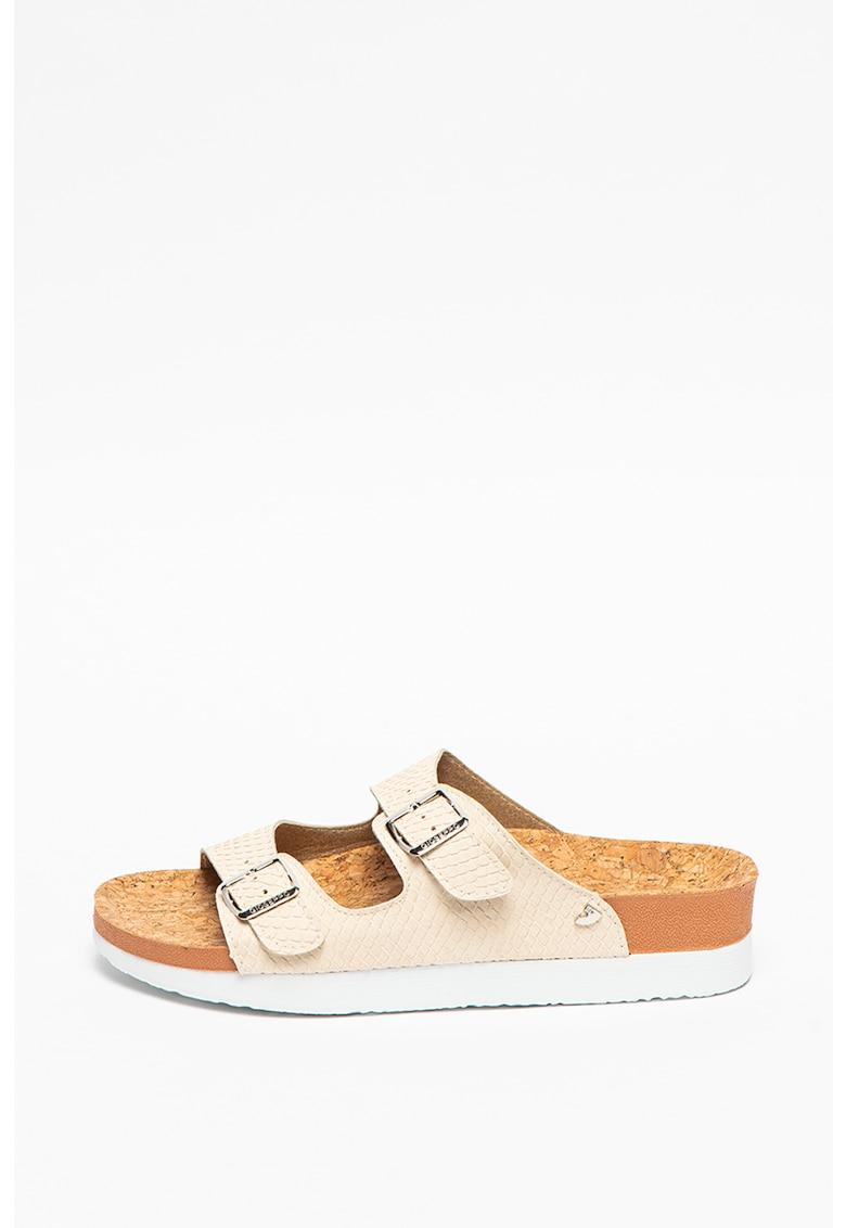 Papuci de piele ecologica Burano