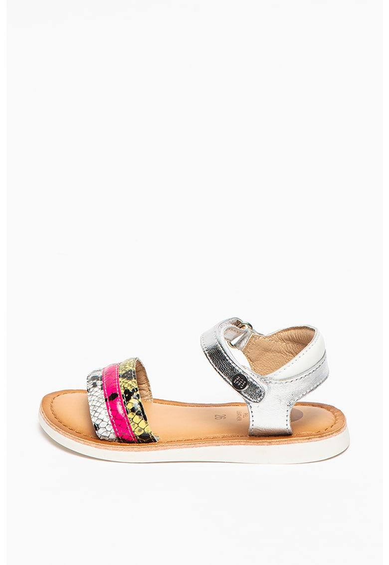 Sandale de piele cu aspect metalizat Hickory imagine