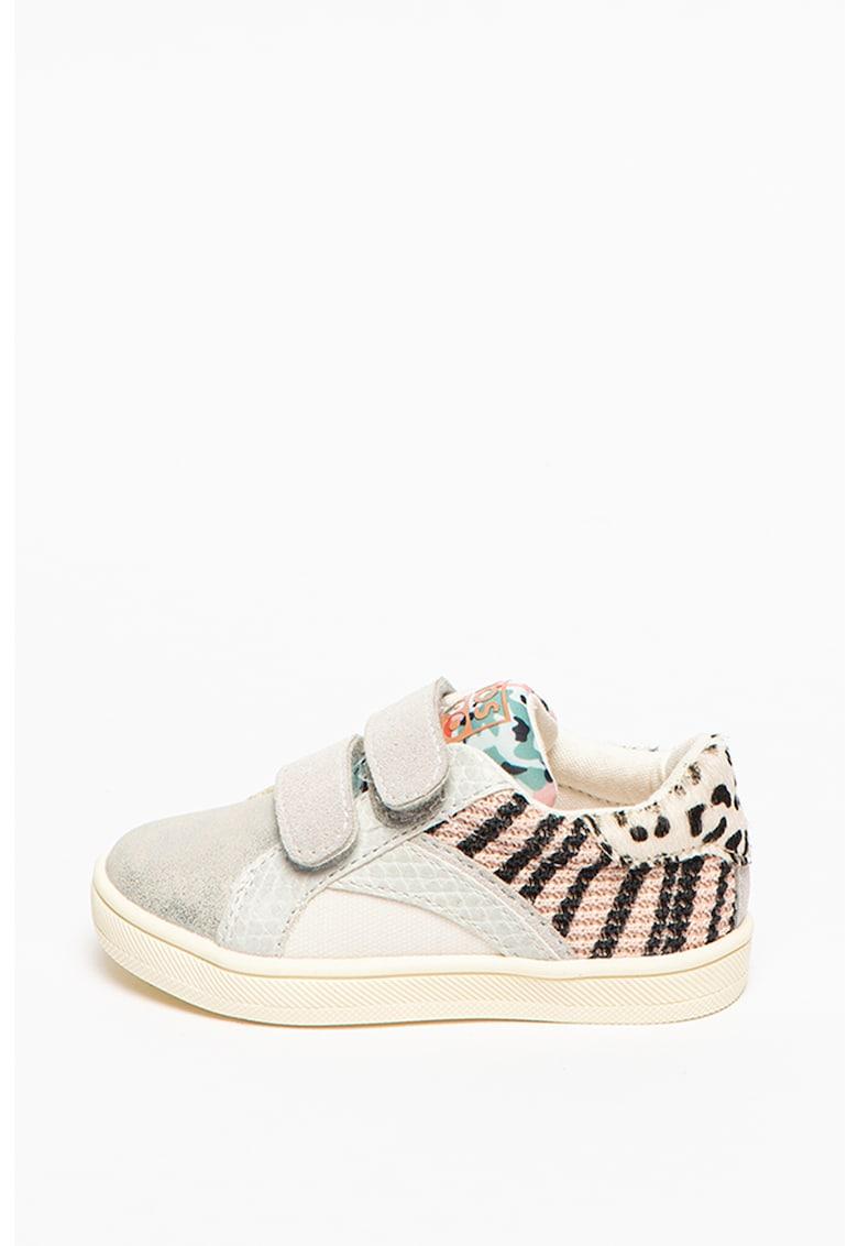 Pantofi sport cu model colorblock si velcro Murray imagine