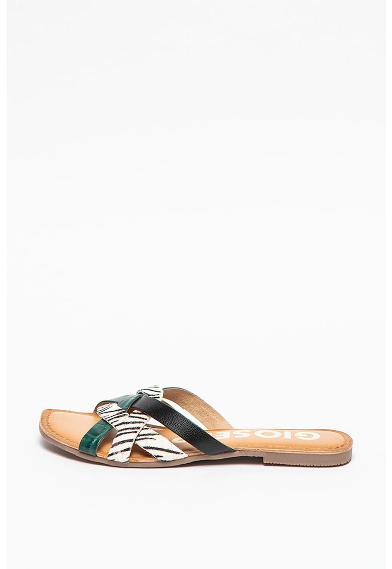 Papuci de piele Stiles