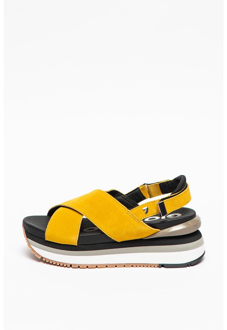 Sandale de piele intoarsa cu platforma Cayce