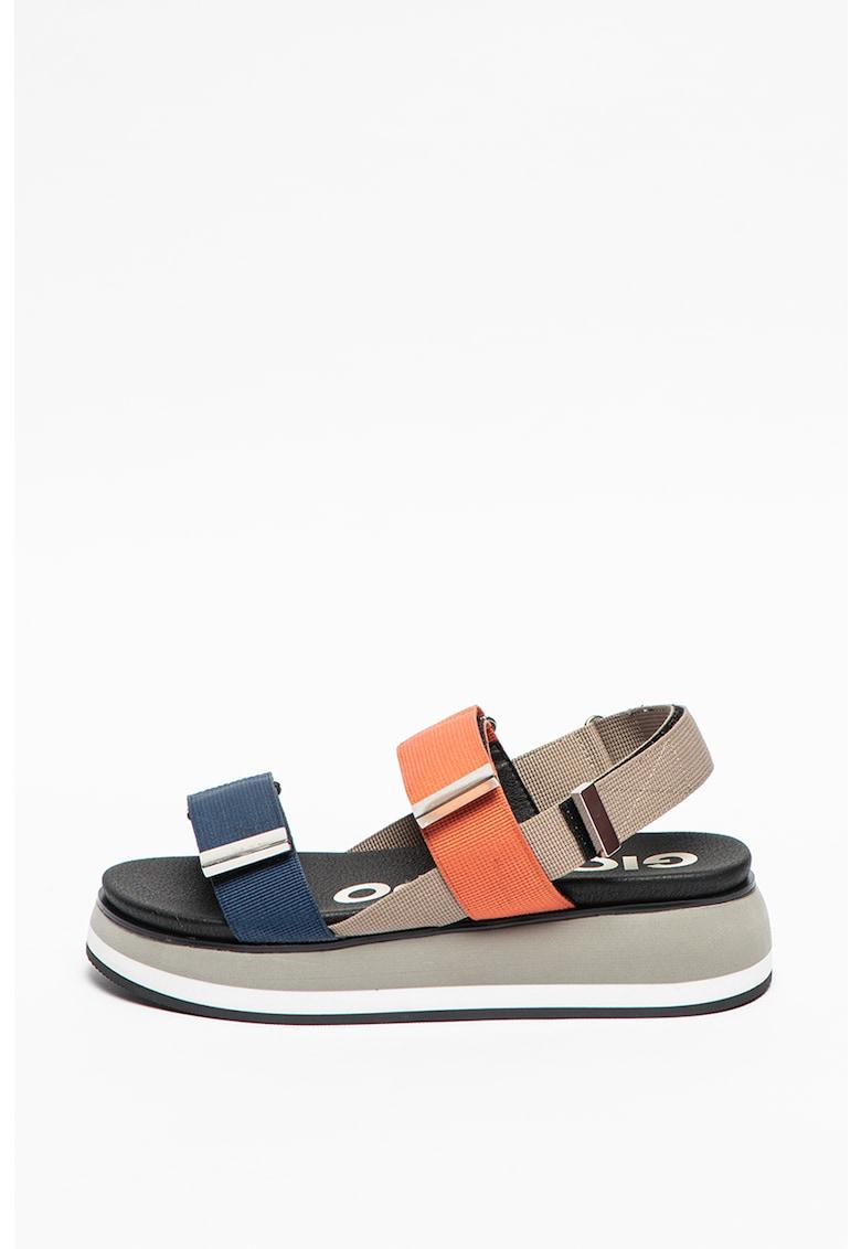 Sandale din material textil cu platforma Urbandale