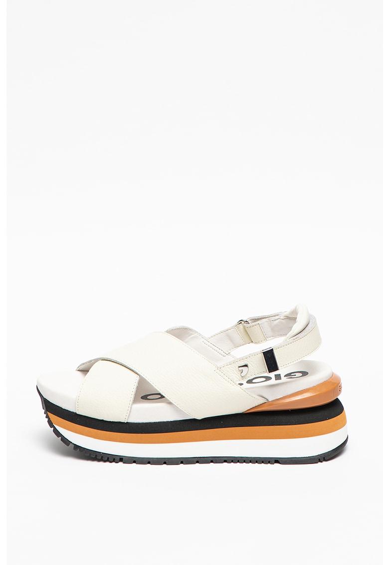 Sandale wedge de piele Metairie poza fashiondays