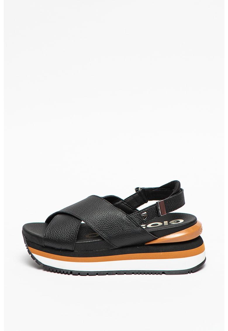 Sandale wedge de piele Metairie imagine