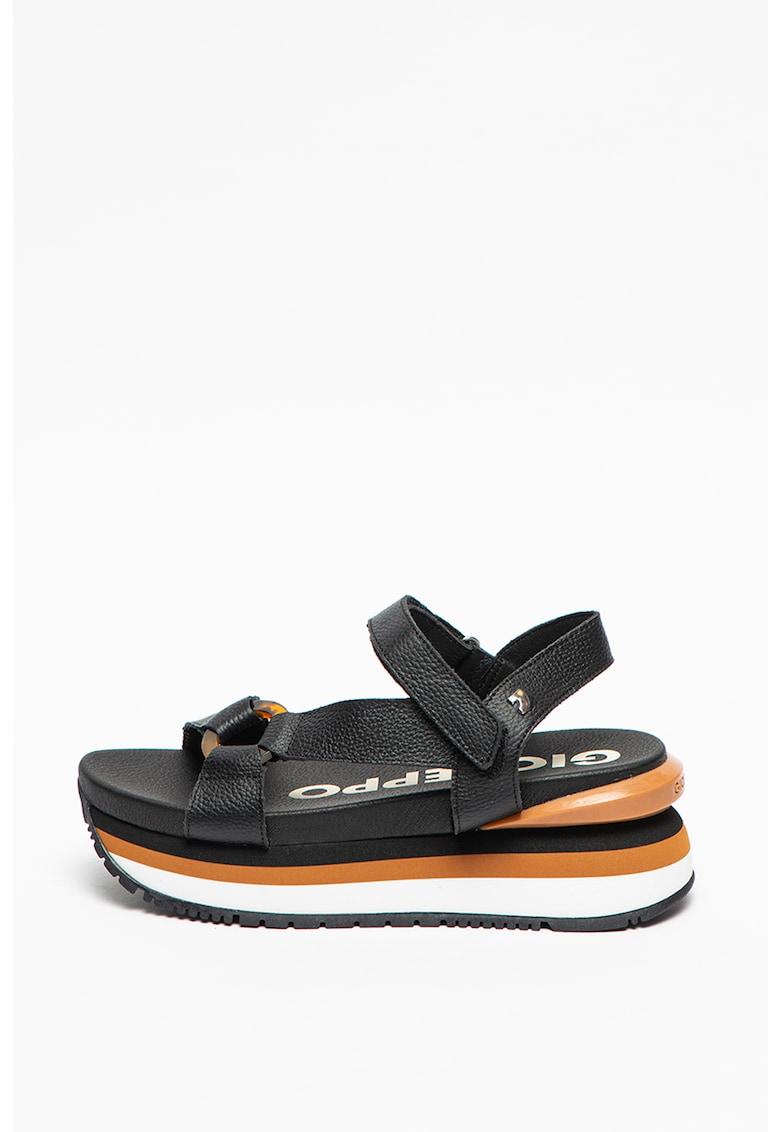 Sandale wedge de piele Kileen imagine