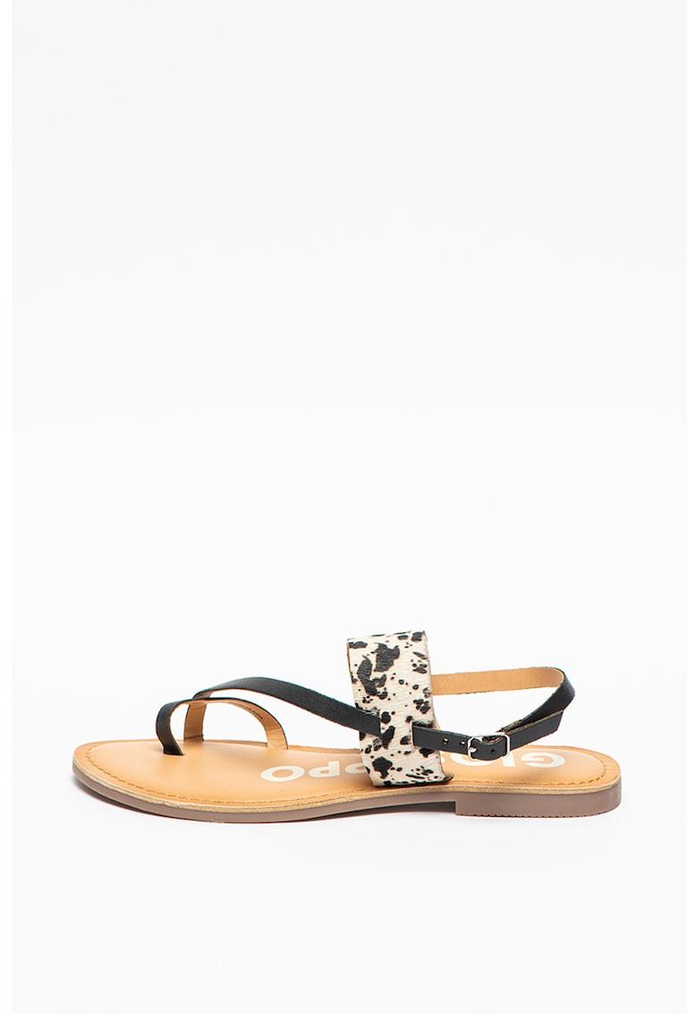 Sandale de piele cu bareta separatoare Barton