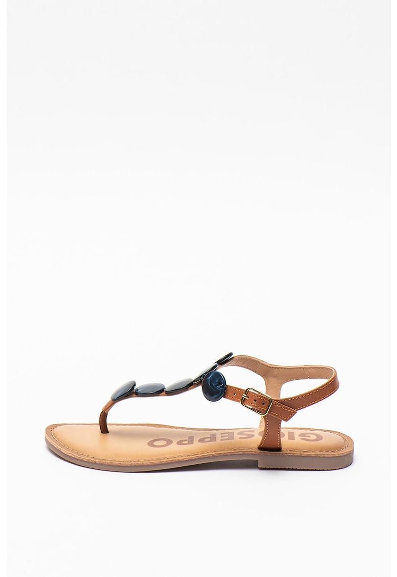 Sandale de piele cu bareta separatoare Bern