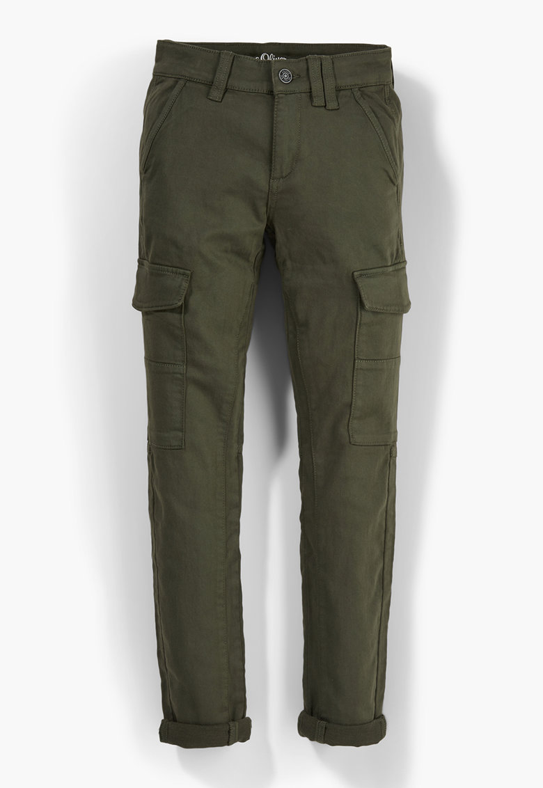 Pantaloni cargo din amestec de bumbac s.Oliver fashiondays.ro