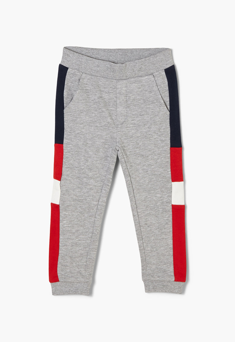 Pantaloni sport cu model colorblock si imprimeuri diverse imagine