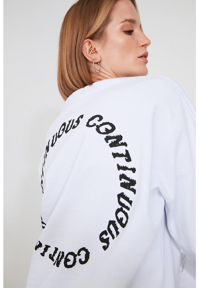 Bluza sport lejera cu design pe partea din spate