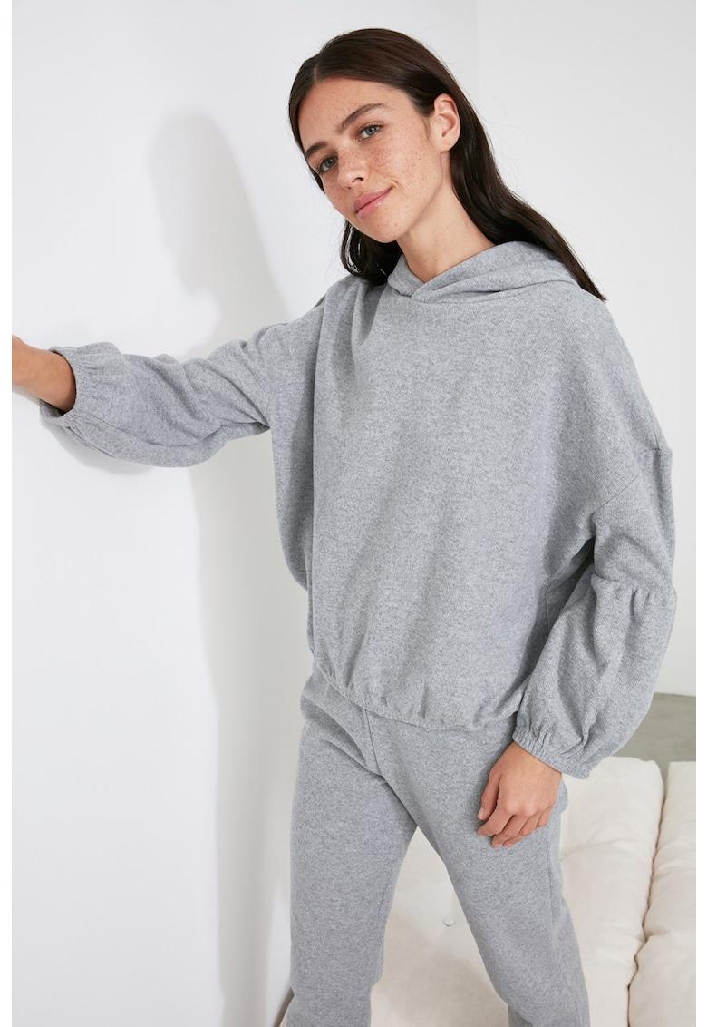 Pijama cu mansete si aplicatii elastice la nivelul gleznelor imagine