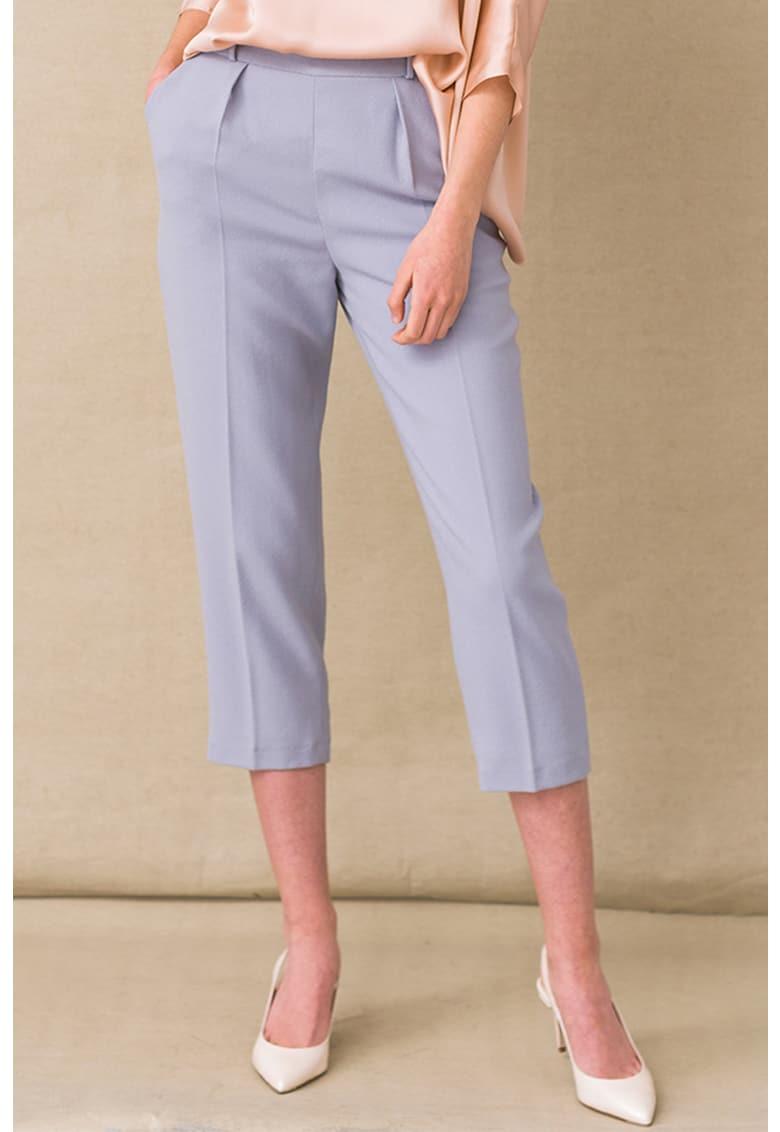 Pantaloni capri de lana virgina