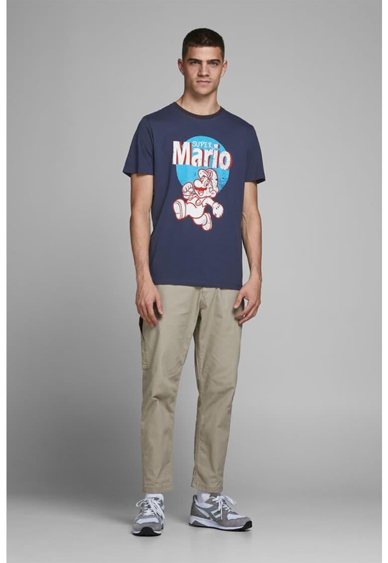 Tricou cu decolteu la baza gatului Super Mario