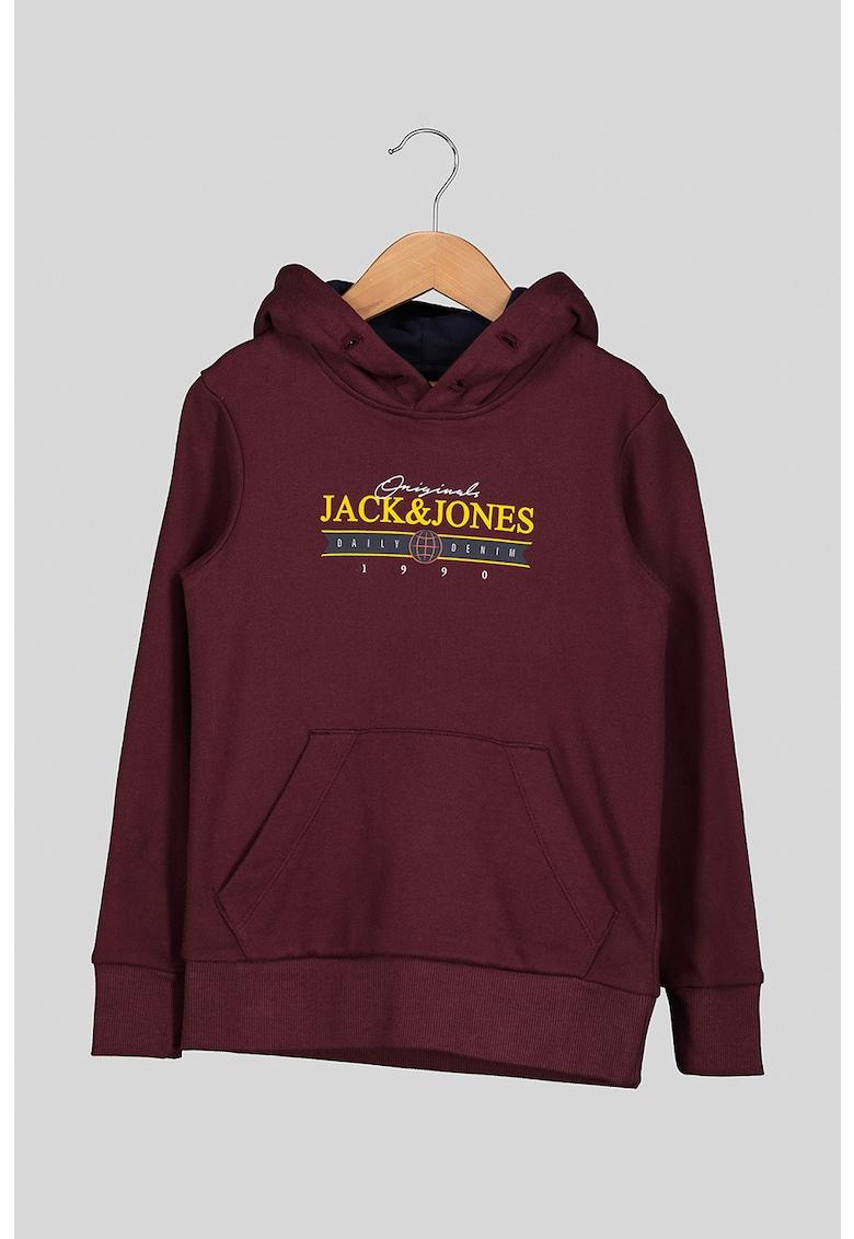 Hanorac de bumbac cu imprimeu logo de la JackJones