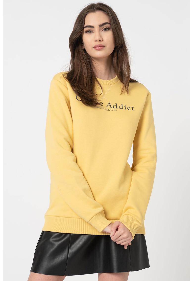 Bluza sport cu imprimeu text Isabella imagine