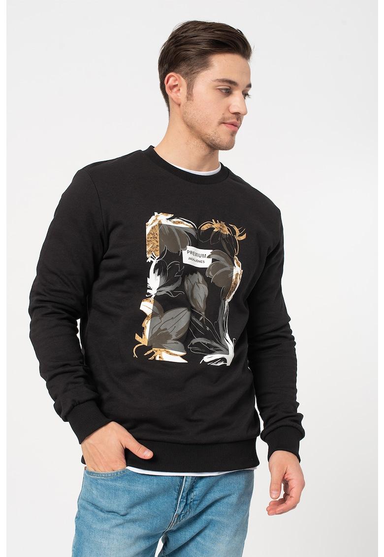 Bluza sport cu imprimeu grafic Roberto imagine promotie