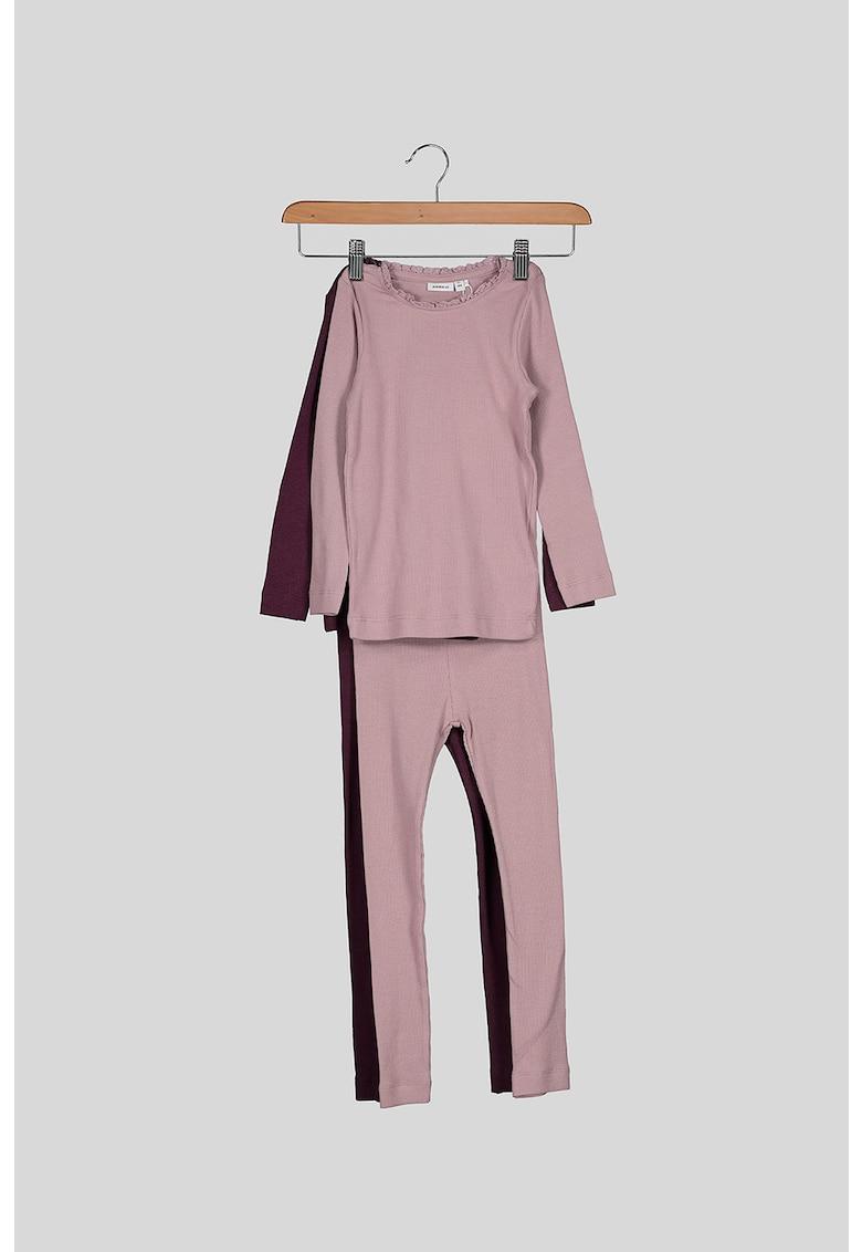 Set de colanti si bluze din amestec de modal si bumbac organic - 4 piese fashiondays.ro