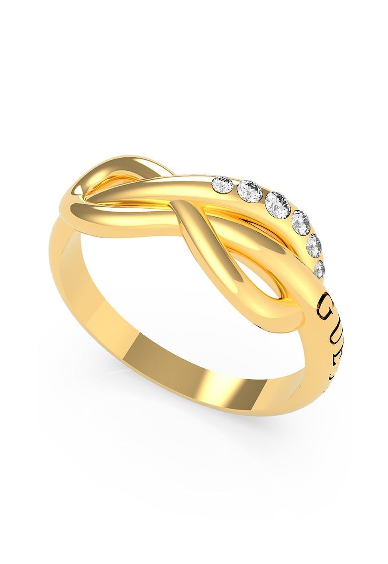 Inel cu simbolul infinitului si cristale