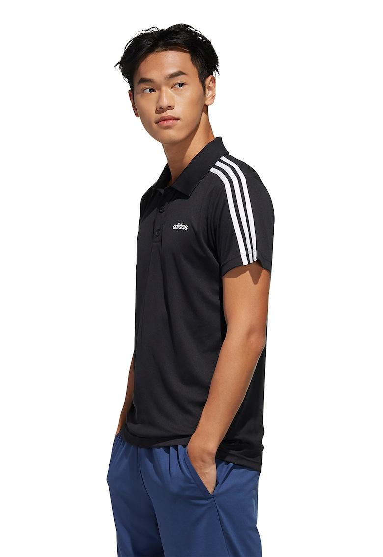 Tricou polo cu dungi emblematice - pentru fitness