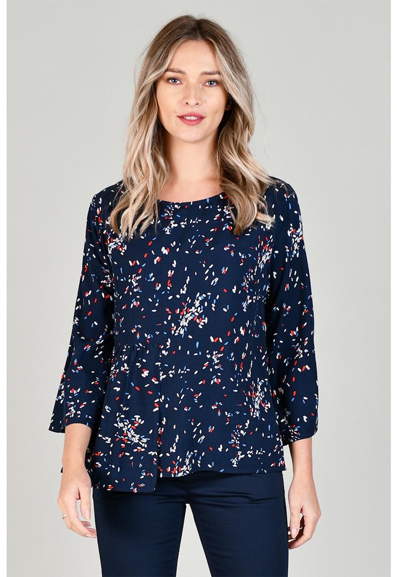 Bluza cu decolteu la baza gatului si model cu buline de la Format Lady