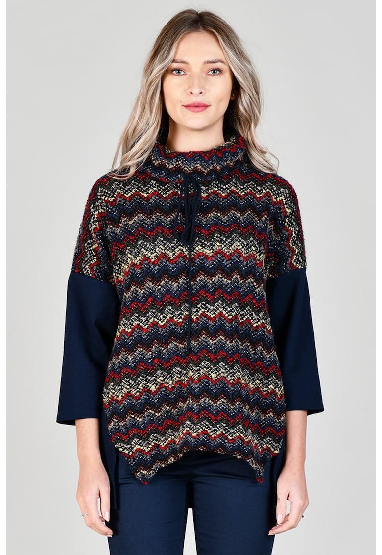 Bluza din amestec de lana - cu maneci cazute Format Lady fashiondays.ro