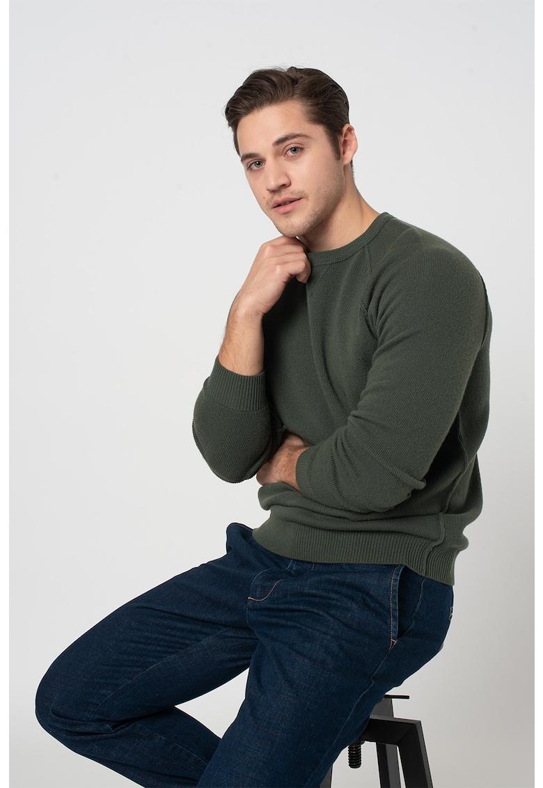 Pulover din amestec de lana cu maneci raglan de la United Colors of Benetton