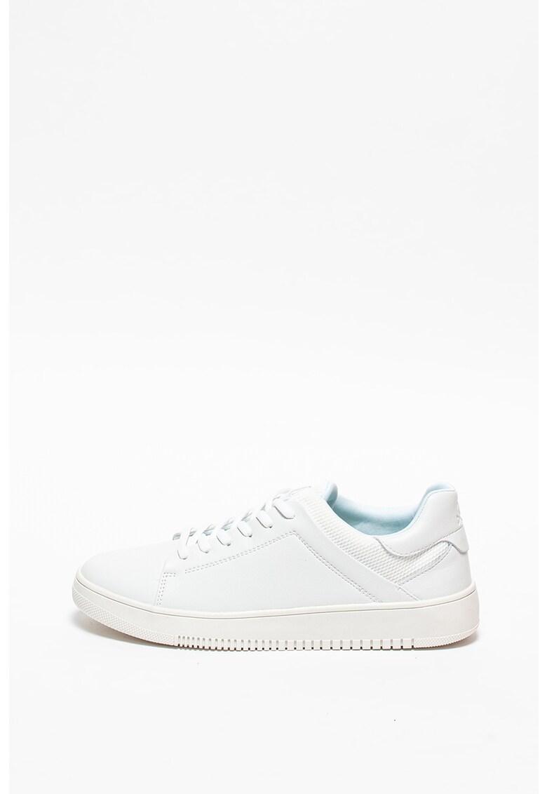 Pantofi sport de piele si material textil